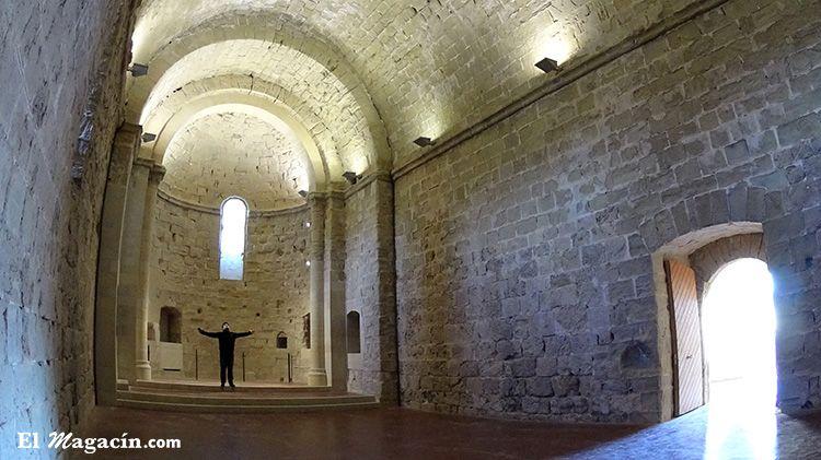 Iglesia en el primer piso del castillo de Miravet