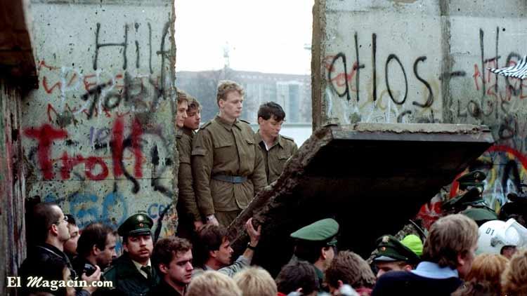 9 de noviembre de 1989. Caída del muro de Berlín.