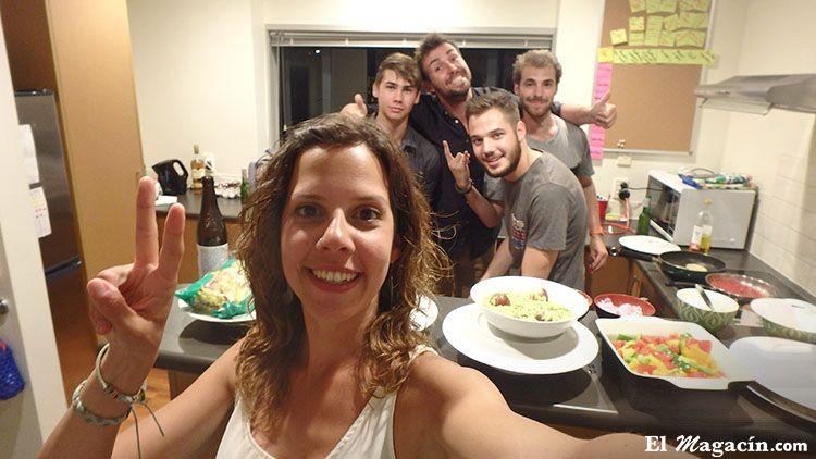 Nueva Zelanda cena con amigos