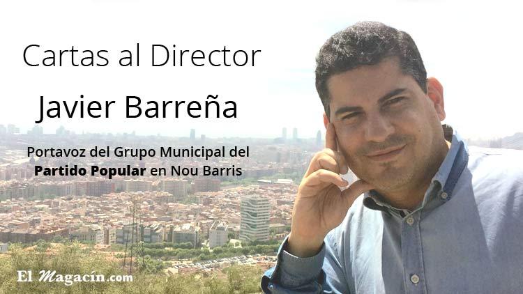 Javier Barreña. Portavoz del Partido Popular de Nou Barris.