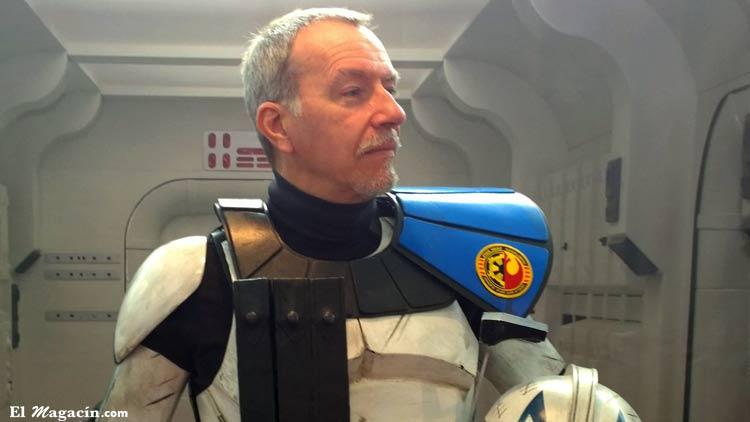 Un miembro de la asociación Star Wars Cataluña