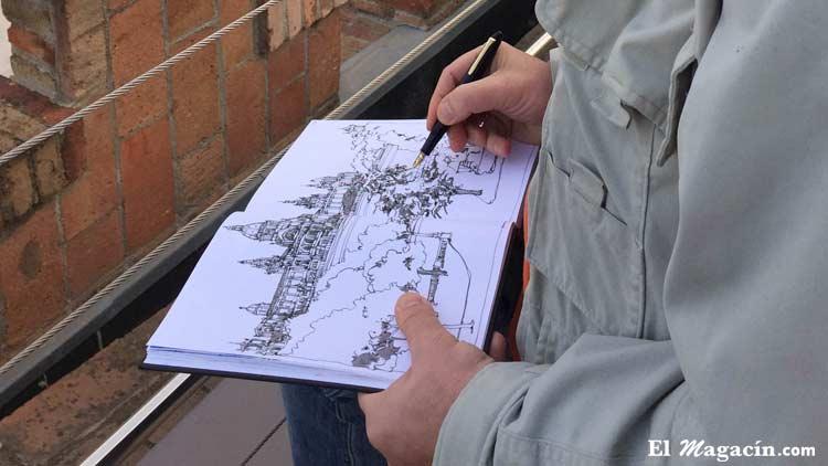 El ilustrador Miguel Herranz
