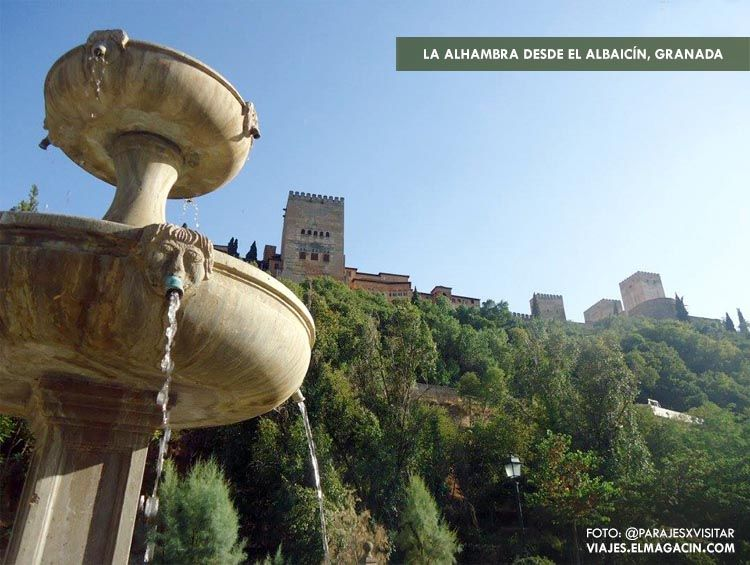 La alhambra desde el Albaicín de Granada. El Magacín.