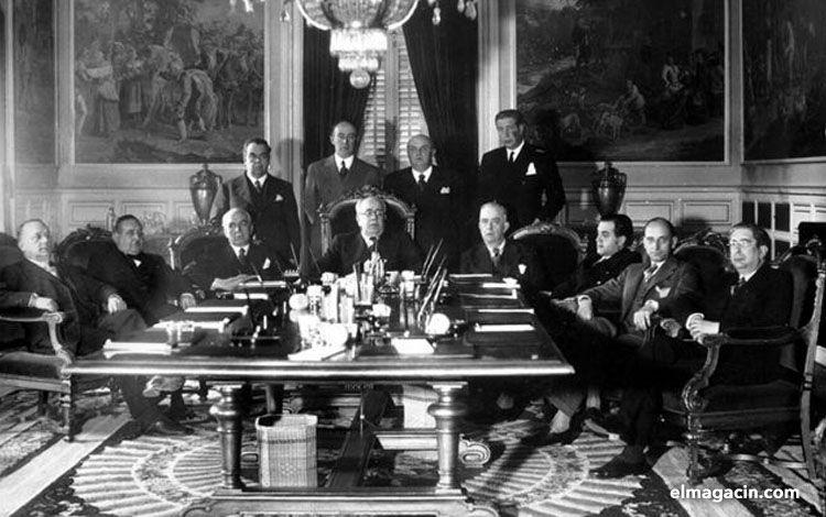 Ministros del Frente Popular en 1936. El Magacín.
