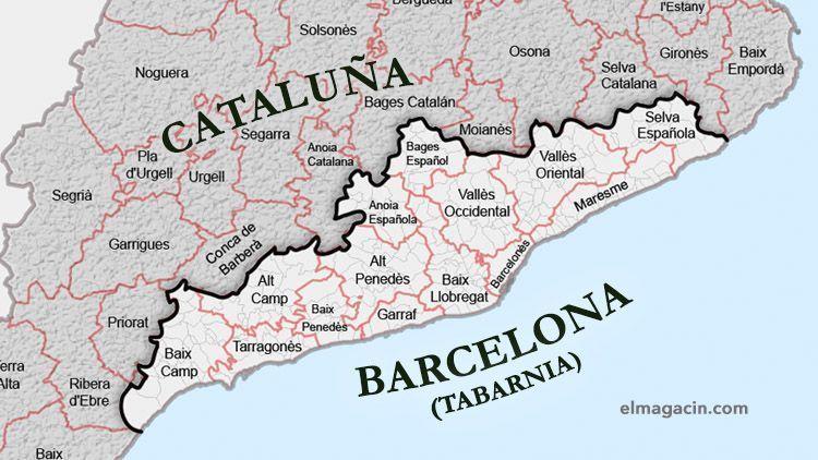 Mapa de Tabarnia. El Magacín.
