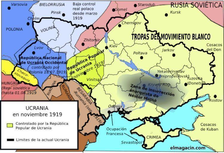 Ucrania en noviembre de 1919. El Magacín.
