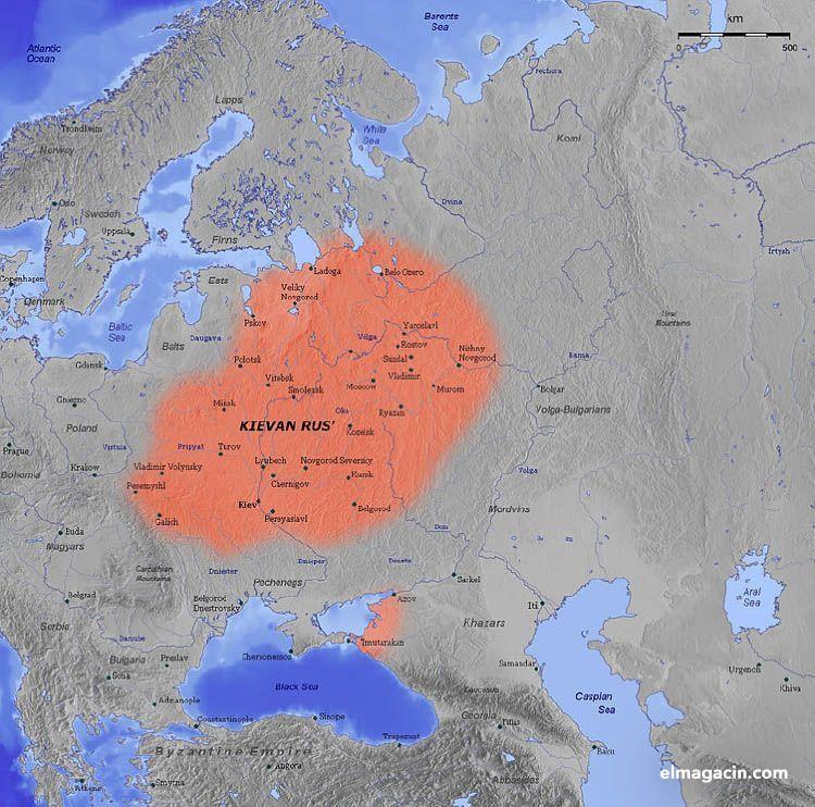 Extensión máxima del Rus de Kiev. El Magacín.