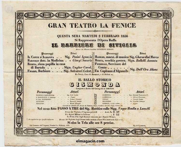 Estreno en el Gran Teatro La Fenice. El Magacín.