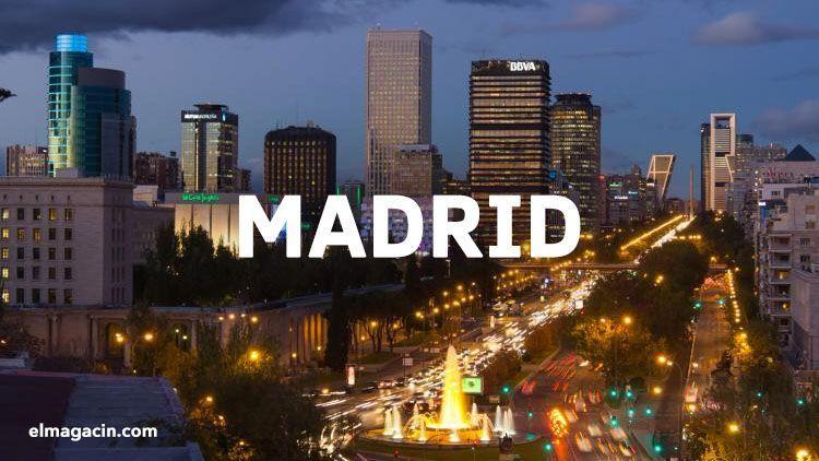 Vistas de Madrid desde el hotel Hesperia. El Magacín.
