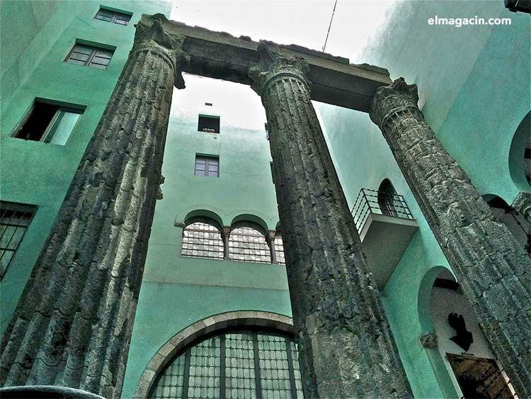 Templo de Augusto en Barcelona. El Magacín.