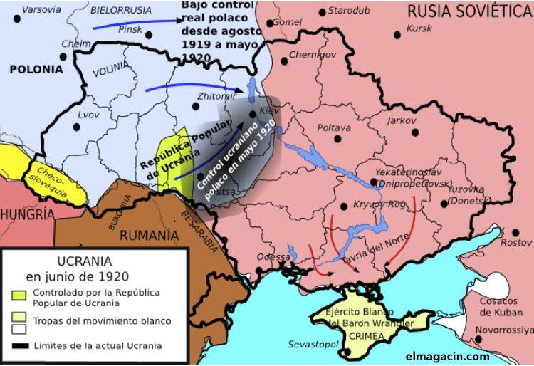 Ucrania en junio de 1920. El Magacín.