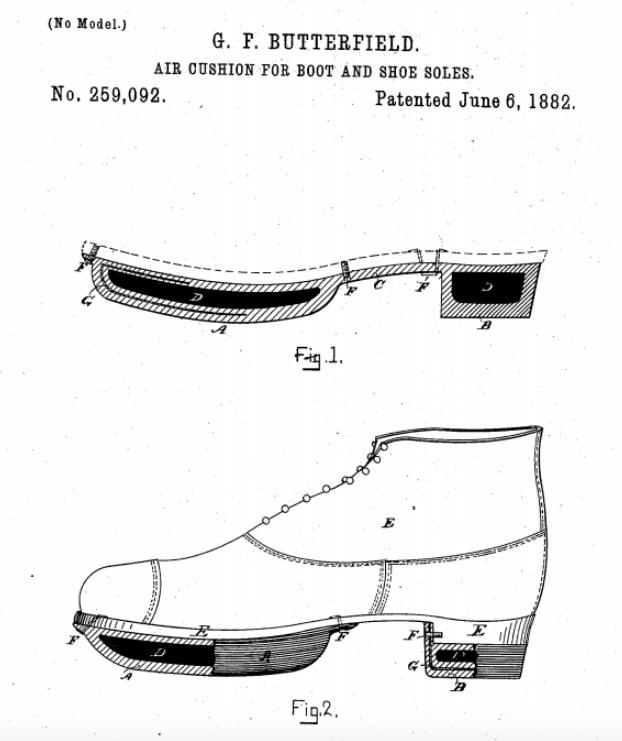 Primera patente de cámara de aire. El Magacín.