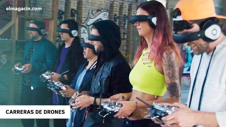 Carreras de drones con cámara FPV. El Magacín.