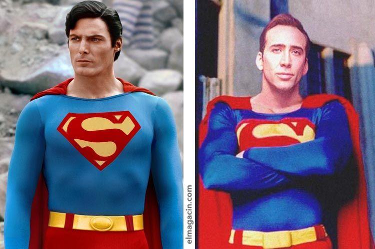Christopher Reeve y Nicolas Cage como Superman. El Magacín.