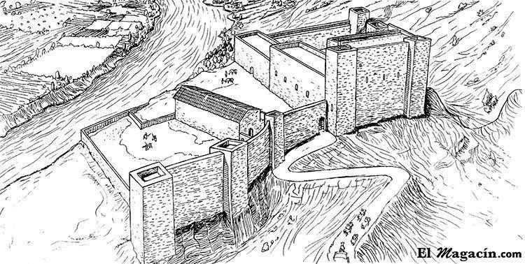 Representación del castillo de Miravet en el siglo XIV