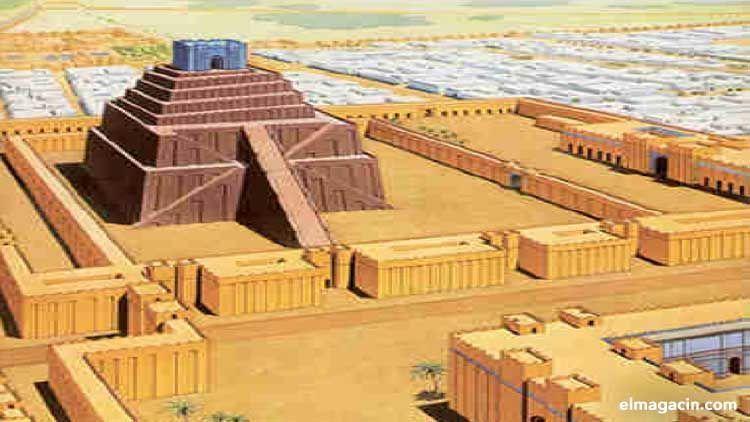 """El Zigurat era la torre donde habitaba el dios Marduk. Se lo conocía como """"árbol cósmico"""". Ahí se unían el cielo y la tierra."""