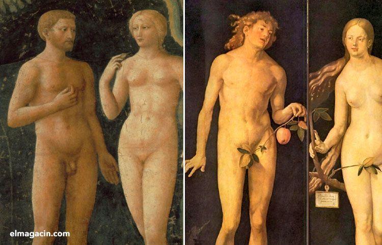 La Tentación de Masolino da Panicale y Adán y Eva de Albrecht Dürer. El Magacín.