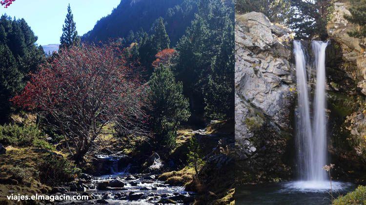 Cascada del valle de Eyne en la Cerdaña francesa