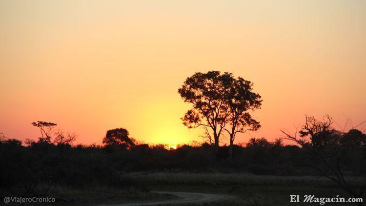 Puesta de sol en Rundu