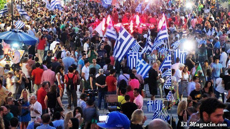 Plaza Syntagma Atenas el día del referéndum