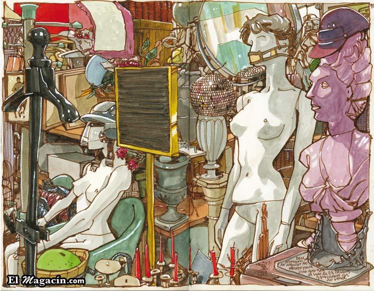 Urban Sketchers. Ilustración: Miguel Herran