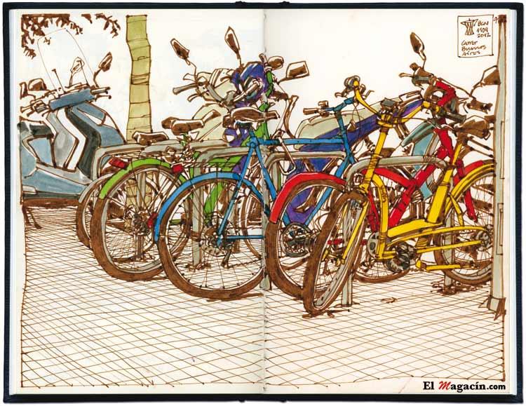 Urban Sketchers. Ilustraciones de Miguel Herran.