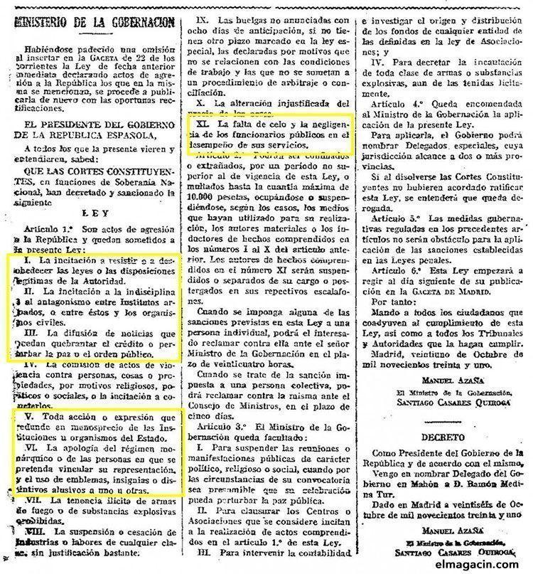 Golpe de Estado de 1936 por el Frente Popular. El Magacín.