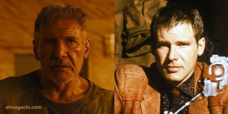 Harrison Ford de joven y de viejo en Blade Runner 2019. El Magacín.