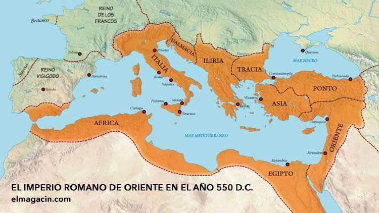 Imperio romano de Oriente en la época de Justino. El rey más loco de la historia