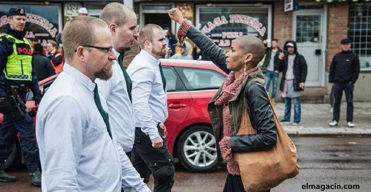 Maria-Teresa Tess Asplund, la activista contra el racismo que desafió a 300 nazis en Suecia