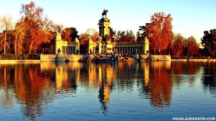 Parque del Retiro de Madrid al atardecer. El Magacín.