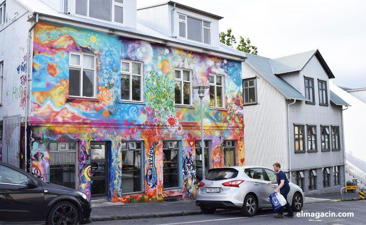 Pintada en una fachada de Reykjavík. El Magacín.