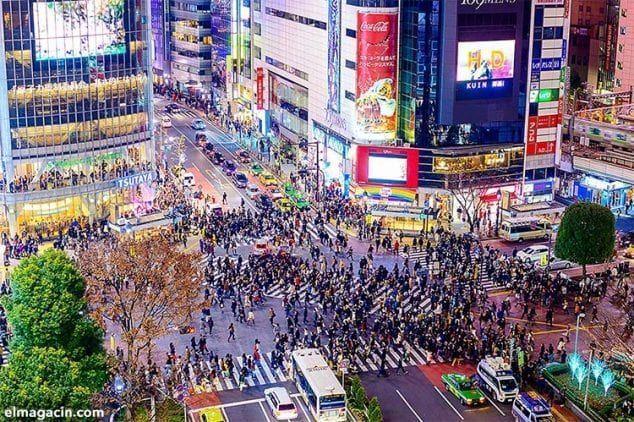 Cruce de Shibuya, el mayor paso de cebra del mundo.