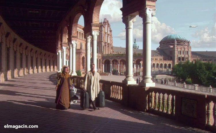 Rodaje de Star Wars en la plaza de España de Sevilla. El Magacín.