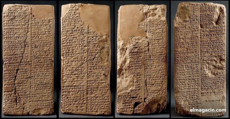 Tablas que contienen el Enuma Elish