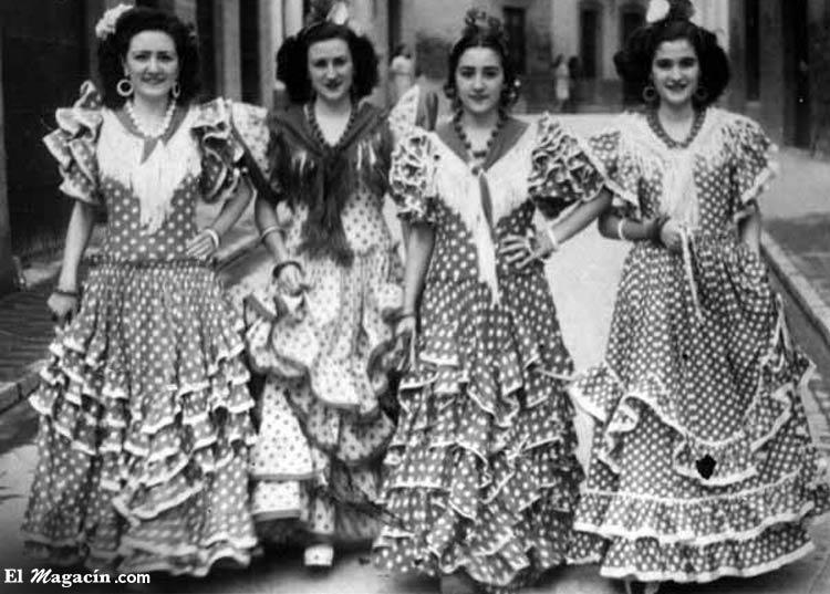 Trajes de gitana de principios del siglo XX. El Magacín.