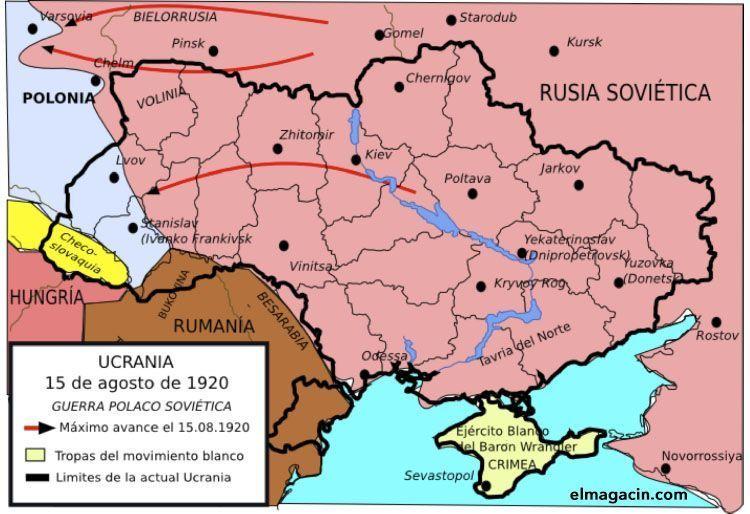Ucrania el 15 de agosto de 1920. El Magacín