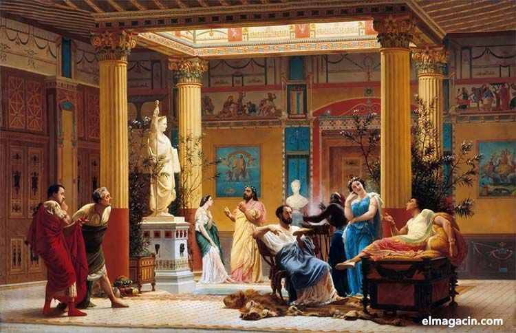 Habitación de la antigua Roma. El Magacín.