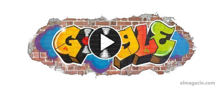 Cabecera de Google alegórica del Hip Hop. El Magacín.