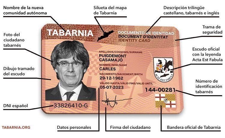 DNI Tabarnia. DNI de Plataforma por Tabarnia. El Magacín.