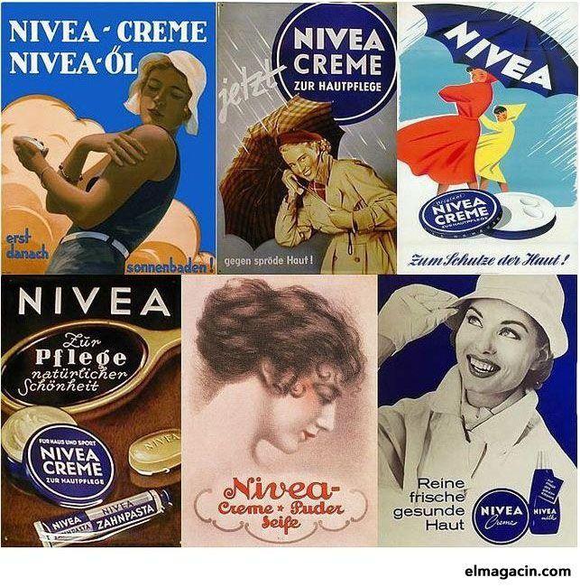 Carteles de la crema NIVEA