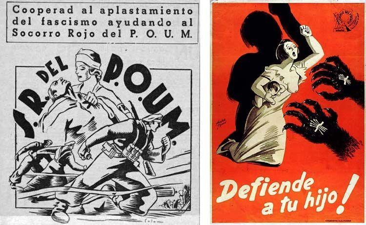 Carteles propagandísticos del POUM. El Magacín.