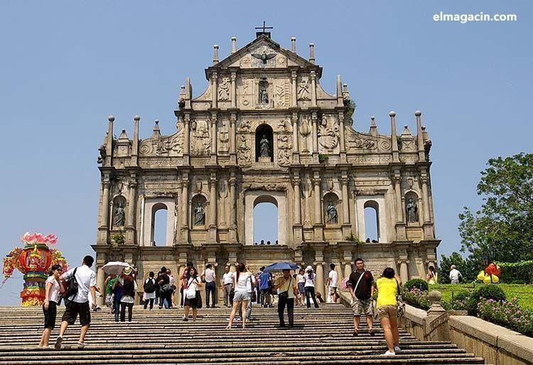 Ruinas de la Iglesia de San Pablo en Macao. El Magacín.