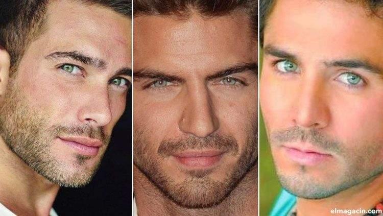 Chicos con ojos verdes
