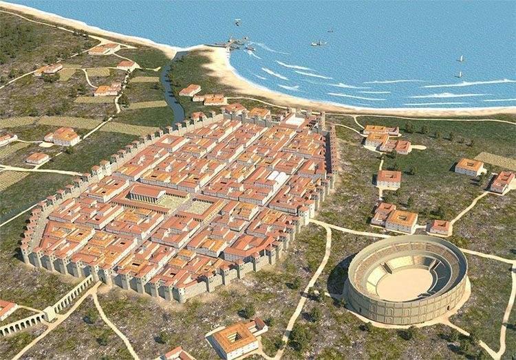 Barcelona en tiempos de los romanos: Barcino