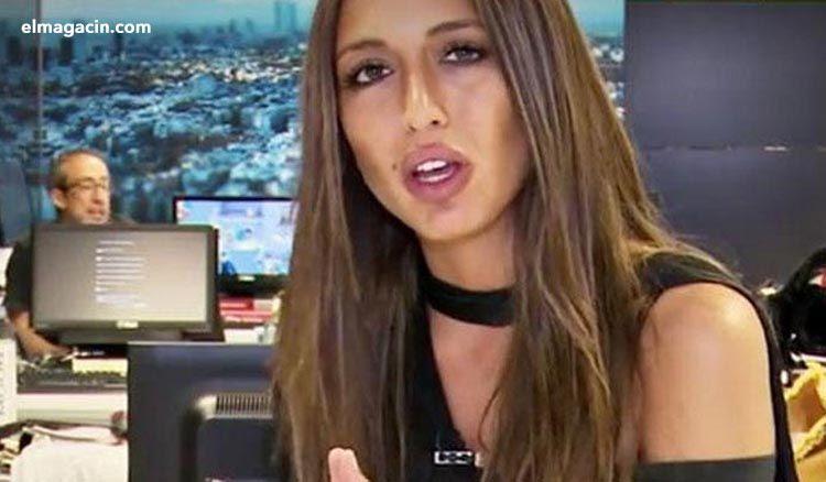 Claudia García del montaje de Espejo Público.