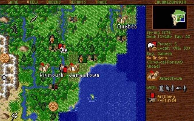 Sid Meier's Colonization (1994). Juegos antiguos de PC. Los videojuegos retro de ordenador y videoconsola