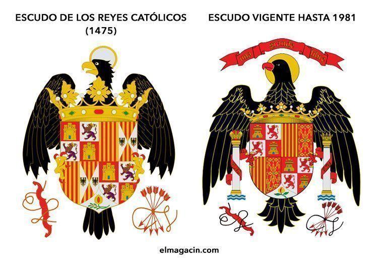 Escudo de los Reyes Católicos y Escudo de la Transición. El Magacín