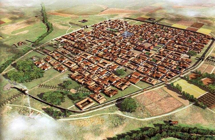 Complutum romana, actual ciudad de Alcalá de Henares