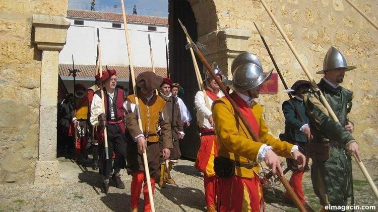 Comuneros de Castilla partiendo a la batalla